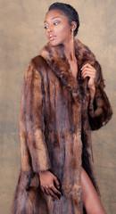 Gorgeous Woman in Fur Coat