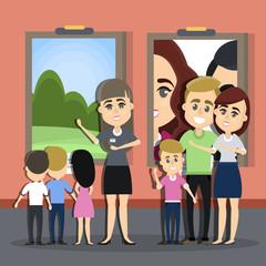 Children at exhibition.