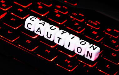 Caution computer symbol