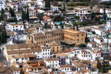 View of granada from alcazaba