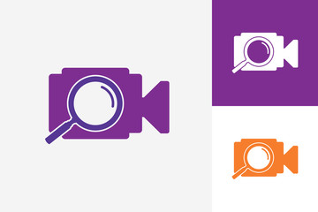 Search Camera Video Logo Template Design Vector, Emblem, Design Concept, Creative Symbol, Icon