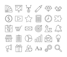 Startup icons set.