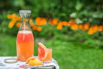 jug of fresh citrus fruit
