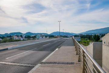 A large bridge over the Port of Milena River in Ada Boyana.