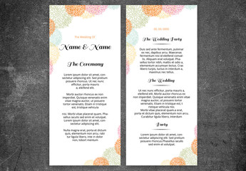 Wedding Program Layout with Line Art Flowers 1