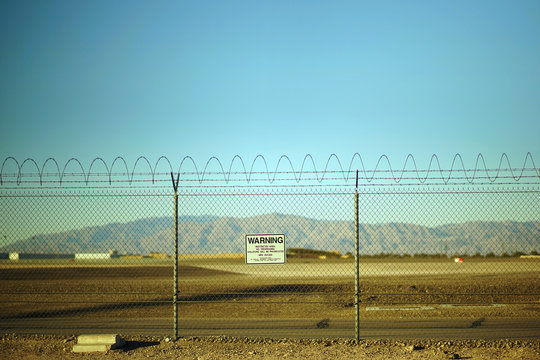 Area 51 Fenced Off Warning Sign