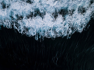 Aerial of an abstract wave from above