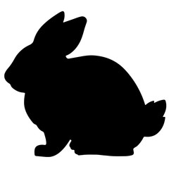 rabbit black silhouette