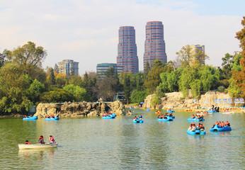 Foto auf Gartenposter Mexiko Lago del parque de Chapultepec Mexico