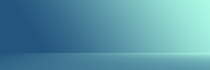 Studio Background - Gradient luxury dark blue horizontal studio room background.