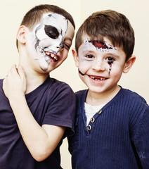 zombie apocalypse kids concept. Birthday party celebration facep