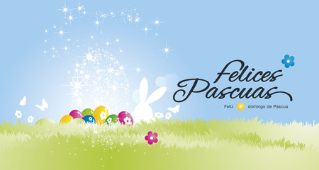 Happy Easter background (Felices Pascuas - Spanish)