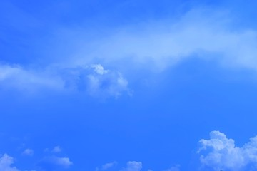 Beautiful Blue Sky with Tiny White Clouds