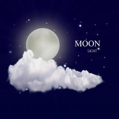 realistic vector moon