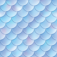 Fish scales seamless pattern. Mermaid tail texture. Vector illustrtion