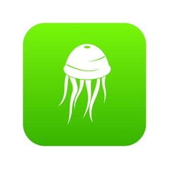 Jellyfish icon digital green