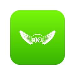 Rock icon digital green