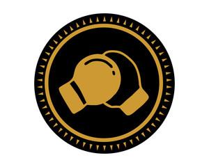 black boxing icon sport equipment tool utensil image vector