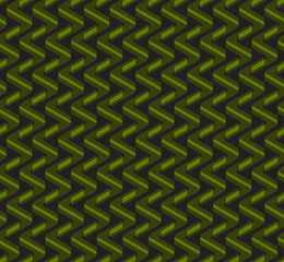 Abstract geometric zig-zag seamless vector pattern
