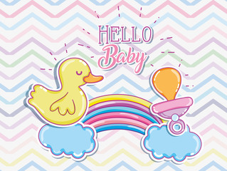 Hello baby cartoons card
