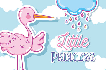 Little princess cute cartoon card