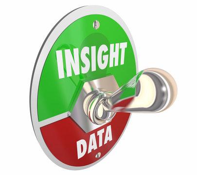 Insight Vs Data Toggle Switch Lever Intelligence 3d Illustration