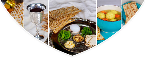 Pesah celebration Passover holiday. Traditional pesah plate text in hebrew: Photo collage different picture