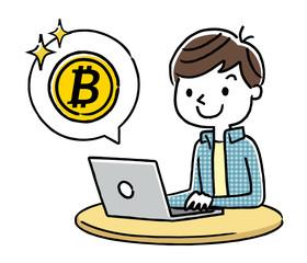 男の子:インターネット、仮想通貨