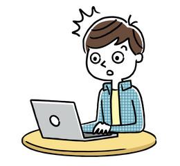男の子:インターネット、パソコン