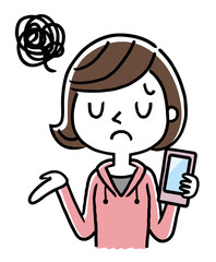 女の子:スマートフォン