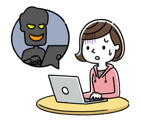 女の子:インターネット、犯罪、詐欺