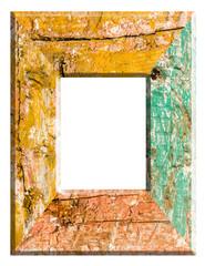 cadre rectangulaire bois ancien vieilli, planches vintage grunge