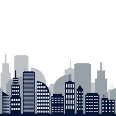 City Building Vector Template Design