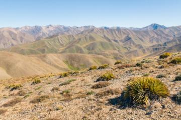 barren hills around Acheron Valley, Southern Alps, New Zealand