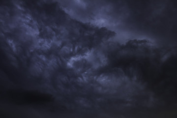Rain clouds coming in the rainy season