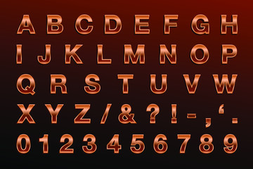 Bronze Letters - Bold