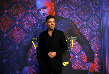 "Cast member Martin poses at a panel event for ""The Assassination of Gianni Versace: American Crime Story"" in Los Angeles"