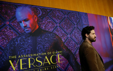 "Cast member Ramirez poses at a panel event for ""The Assassination of Gianni Versace: American Crime Story"" in Los Angeles"