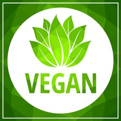 Vector illustration of Vegan food concept design.