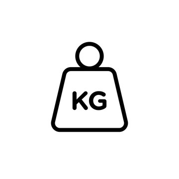 kilogram weight outlined vector icon. Modern simple isolated sign. Pixel perfect vector  illustration for logo, website, mobile app and other designs