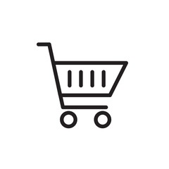 shopping cart, shopping trolley outlined vector icon. Modern simple isolated sign. Pixel perfect vector  illustration for logo, website, mobile app and other designs