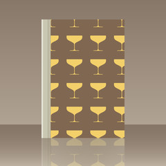 Wineglasses and Book. Realistic image of the object