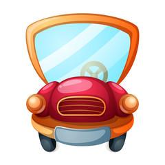 Funny, cute cartoon car illustration. Vectior eps 10