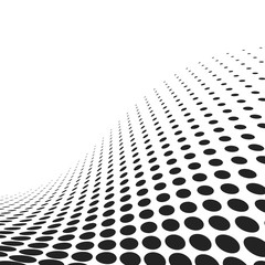 abstract spotted wavy surface