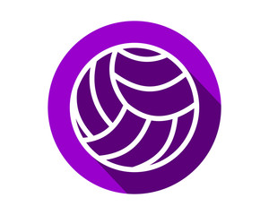 purple volley ball icon circle sports equipment tool utensil image vector
