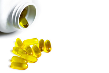 Omega,the useful vitamins for the body.