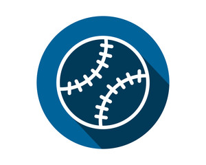 blue softball icon circle sports equipment tool utensil image vector