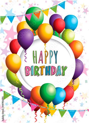 Happy birthday invitation card design stock image and royalty free happy birthday invitation card design stopboris Choice Image