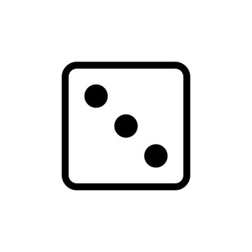 White dice number 3