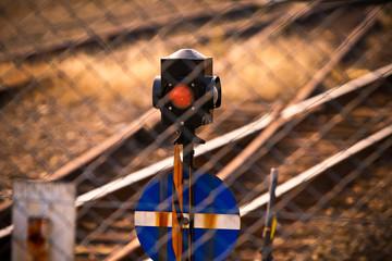 鉄道線路と信号機
